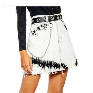 NWT Topshop Tie Dye Denim Mini Skirt, UK10/US6